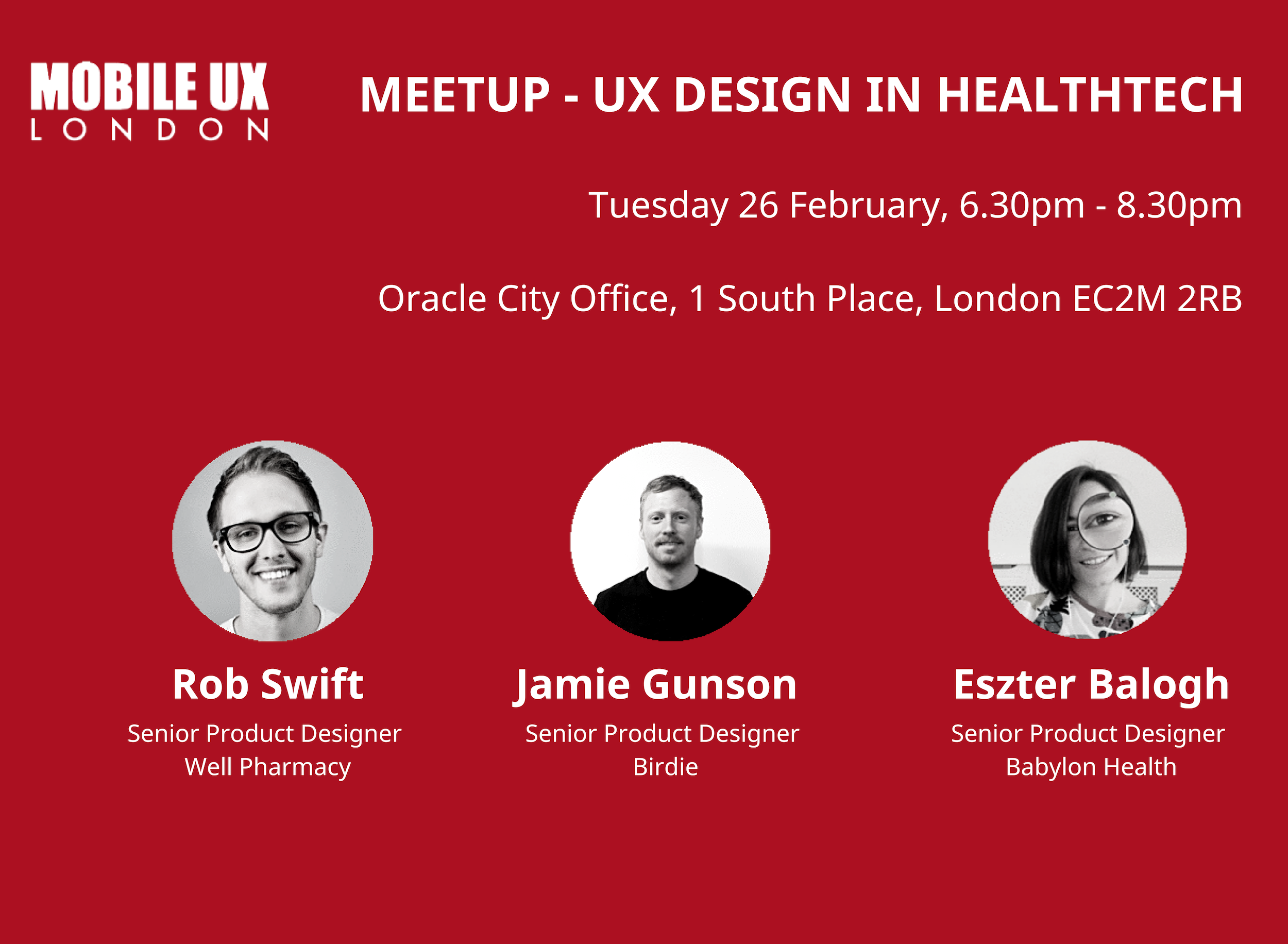 February meet up UX Design in HealthTech
