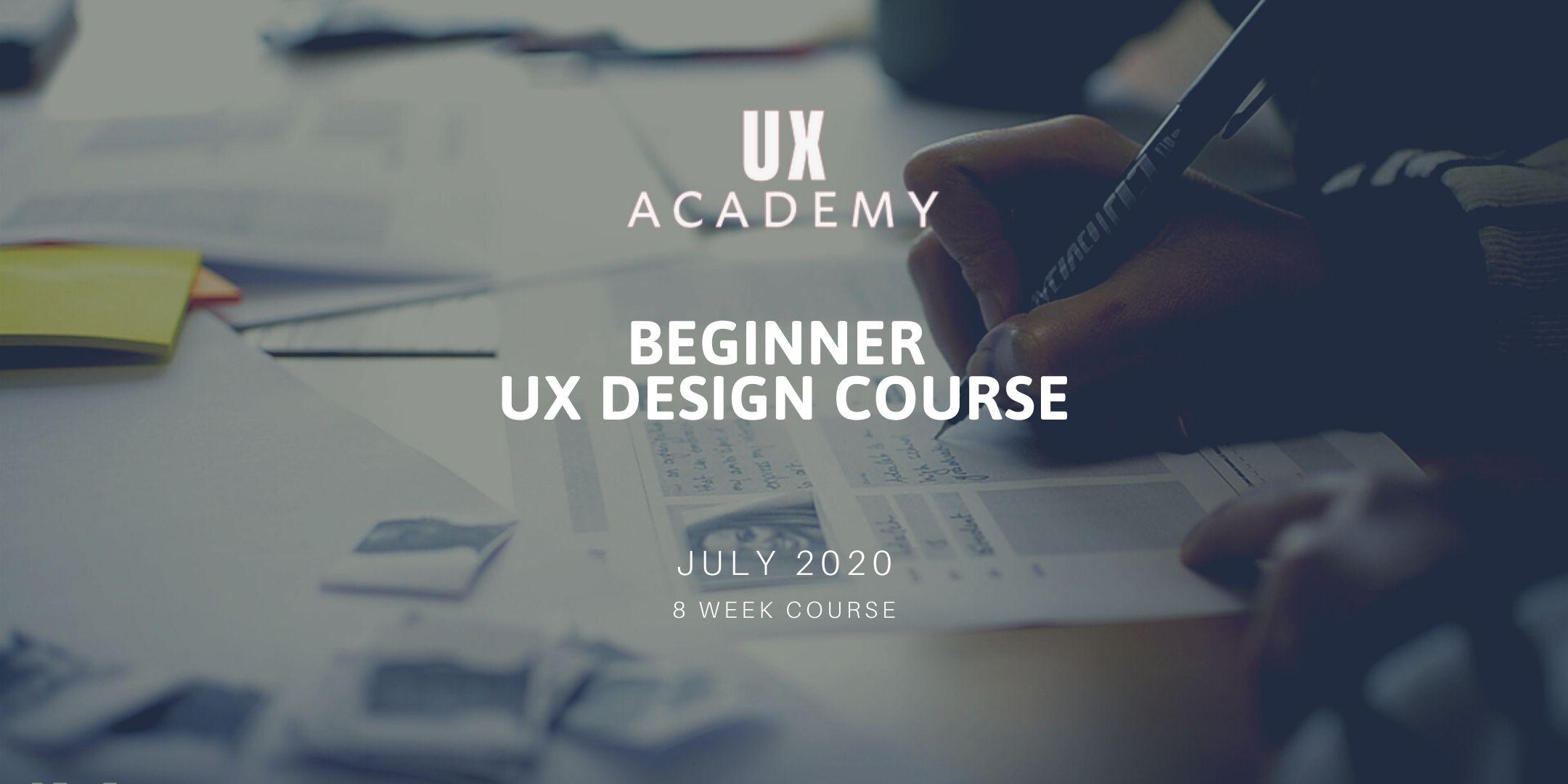 UX Academy Beginner UX Design Course july 2020